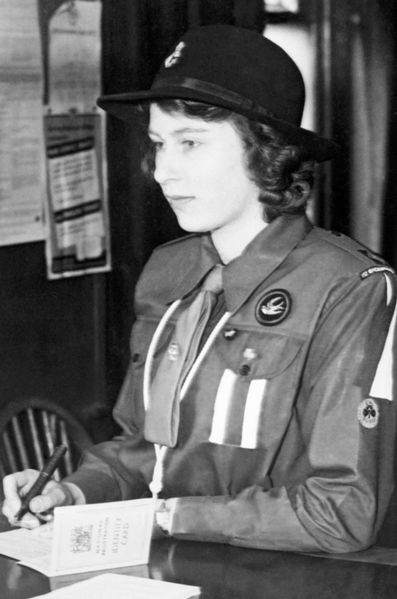 La princesse elizabeth le 1er janvier 1942